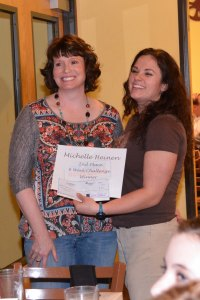 2nd place winner, Michelle Heinen with Sara Goossen. Pictures courtesy of Monica Yarborough