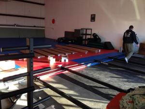 The beginning bare bones of a fitness fortress in the making.
