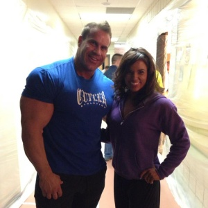 Not only is Jay Cutler bohemoth, but he makes Sara look like a tiny lil tea cup.  Jay Cutler Classic 2013.